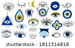 Evil Eye Symbols. Hand Drawn...