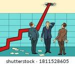 arrow growth chart. pop art... | Shutterstock .eps vector #1811528605