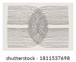 trendy abstract aesthetic... | Shutterstock .eps vector #1811537698