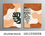 abstract tropical leaves poster ...   Shutterstock .eps vector #1811550058
