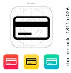 credit card magnetic tape icon.