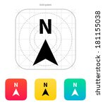 north direction compass icon.