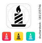 christmas candle icon.