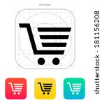 shopping cart  trolley icon.