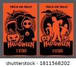 halloween night party...   Shutterstock .eps vector #1811568202