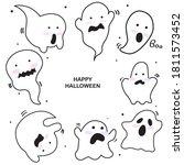 halloween cartoon art party... | Shutterstock .eps vector #1811573452
