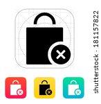 shopping bag delete icon.
