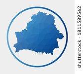 belarus icon. polygonal map of... | Shutterstock .eps vector #1811589562