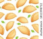 empanadas seamless pattern.... | Shutterstock .eps vector #1811598712