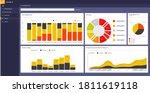 power bi template. data... | Shutterstock .eps vector #1811619118