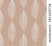 mono print style leaves... | Shutterstock .eps vector #1811634718