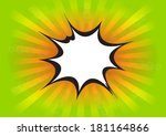comic speech bubble cartoon | Shutterstock .eps vector #181164866