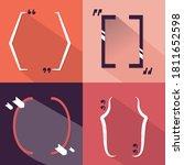 vector flat bracket quote set...   Shutterstock .eps vector #1811652598