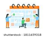 illustration of schedule... | Shutterstock .eps vector #1811659318