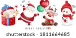 cute doodle santa claus and... | Shutterstock .eps vector #1811664685
