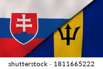 Two States Flags Of Slovakia...