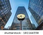 famous clock at reuters plaza    Shutterstock . vector #181166558