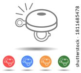 bicycle bell icon vector logo... | Shutterstock .eps vector #1811685478