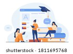 happy women learning language... | Shutterstock .eps vector #1811695768