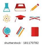 school design over white... | Shutterstock .eps vector #181170782