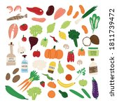 big set of healthy nutrition ...   Shutterstock .eps vector #1811739472