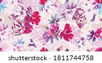 wide vintage seamless... | Shutterstock .eps vector #1811744758