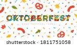 oktoberfest papercut typography ...   Shutterstock .eps vector #1811751058