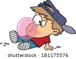 cartoon boy who cant walk and... | Shutterstock .eps vector #181175576