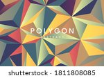 triangle abstract colorful... | Shutterstock .eps vector #1811808085