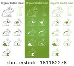 organic rabbit meat parts icon... | Shutterstock .eps vector #181182278