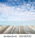 Wooden Pier Sea And Sky With...
