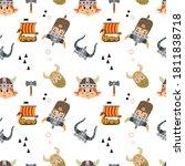 vector image. funny modular... | Shutterstock .eps vector #1811838718