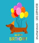 dachshund dog. cute cartoon... | Shutterstock .eps vector #1811894458
