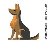 dog german shepherd breed... | Shutterstock .eps vector #1811922685