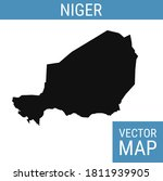 niger vector map with country... | Shutterstock .eps vector #1811939905