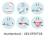 collection of clean teeths... | Shutterstock .eps vector #1811955718