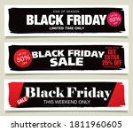 set of black friday sale... | Shutterstock .eps vector #1811960605