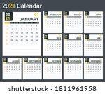2021 calendar template  planner ... | Shutterstock .eps vector #1811961958
