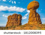 Balancing Rock With Blue Sky
