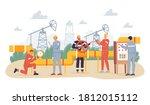 oil gas industry concept.... | Shutterstock .eps vector #1812015112