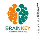 brain key vector logo template. ... | Shutterstock .eps vector #1812040675
