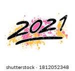 new year 2021 vector...   Shutterstock .eps vector #1812052348