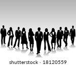 illustration of business team | Shutterstock .eps vector #18120559