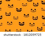 seamless pattern with scary... | Shutterstock .eps vector #1812059725