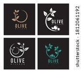 olive oil flower  logo design...   Shutterstock .eps vector #1812061192