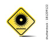 hurricane warning yellow sign ... | Shutterstock .eps vector #181209122