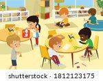 montessori school class. vector ... | Shutterstock .eps vector #1812123175