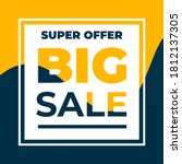 vector super offer big sale... | Shutterstock .eps vector #1812137305