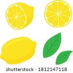 lemon illustration set material ... | Shutterstock .eps vector #1812147118