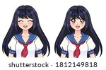 Set Of Anime Expressions. Cute...